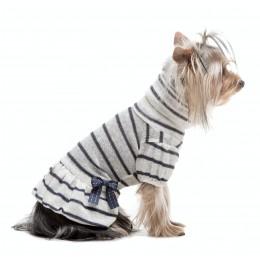 THE STRIPED BOW DRESS Abitino per Cani