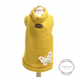 """Maglione per cani """"Sweet Moustard Butterfly Knit"""""""