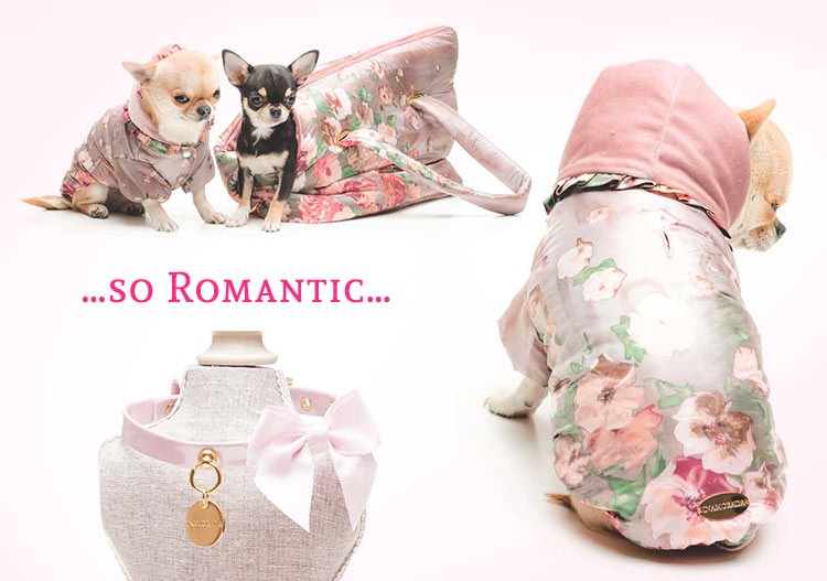 IMPERMEABILE PER CANI Enchanting Flowers stampa floreale